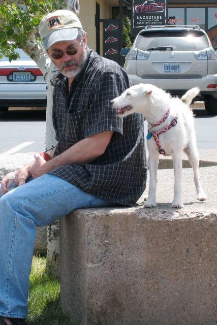 Карлтон с собакой